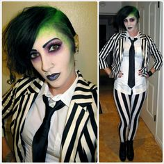 DIY Halloween costume...... Beetlejuice
