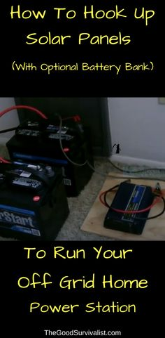 We thought you would get a lot out of this video as it shows you step by step how to hook up your solar panels to run your off grid power station. What's more, is you will learn how to connect it all to a battery bank. #offgridliving #howtohookupsolarpanels