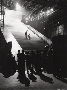 David Niven and Marius Goring on the set of A Matter of Life and Death, Michael Powell and Emeric Pressburger. David Niven, Tv Set Design, Andreas Gursky, Fantasy Films, Cinema Film, Moving Pictures, Film Photography, Cinematic Photography, Film Posters
