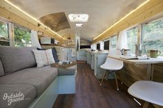 A bus converted into a tiny house! I want one so bad!!! Outside Found | Bus Conversion Project