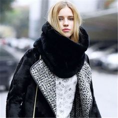 GOPLUS Fashion Stylish Womens Fluffy Winter Faux Fur Collar Scarf Shawl Wraps Shrug Neck Warmer Stole A0624