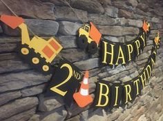 Construction Birthday Banner Dump Truck by MarinasCraftShop