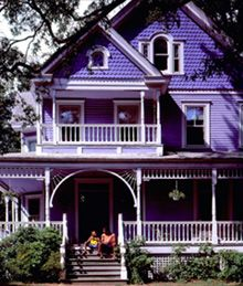purple Victorian home!   Love it!!