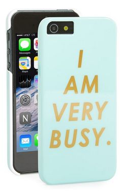 'I am very busy.' iPhone case