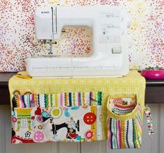 Colorful Sewing Machine Apron and other handmade gifts for sewists