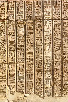 Ancient Egyptian Hieroglyphs at Kom Ombo.