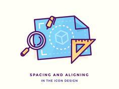 Spacing and Aligning in The Icon Design by Justas Galaburda