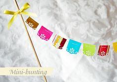 Mini cake bunting for Cinco De Mayo