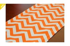 Table Runner Mandarin Orange Chevron Table Runner by Perfect for game day or UT birthday party. Chevron Table Runners, Boxes And Bows, Dinner Party Table, Orange Table, Orange Chevron, Centre Pieces, Table Linens, Fall Decor, Color Pop