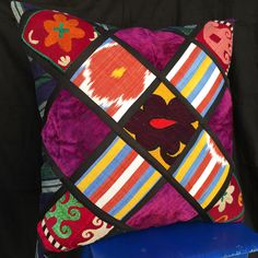 In this category you will find pillow cases cutted and stitched from more then years old Suzani textiles, handwoven silk Ikat, patchwork of Central Asian tribal cloths. Each pillow cover is unique, hand silk/cotton embroidery. Ethnic Decor, Bohemian Decor, Patchwork Pillow, Pillow Sale, Embroidered Silk, Ikat, Decorative Pillows, Hand Weaving, Pillow Covers
