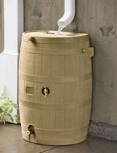 Flat-Back Rain Barrels - conserve water... thats pretty cool if you think about it. You could water your plant with this water or fill water ballons for a party!