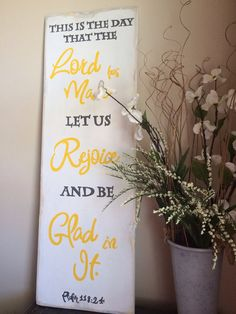 Psalm 118:24 hand painted scripture sign on by WordsofPurpose