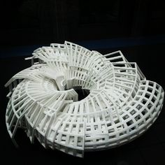 Marius Watz - RibForm 3D print for Intersections exhibition