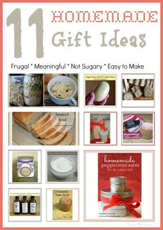 Homemade Gift Ideas that are frugal, meaningful, easy to make and are chock full of a ton of sugar!