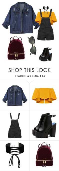 """Untitled #119"" by vega-skouboe-lindberg on Polyvore featuring Boohoo, Miss Selfridge, MICHAEL Michael Kors and Ray-Ban"