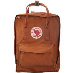 Kanken - Kanken Backpacks – Fjallraven ($75) ❤ liked on Polyvore featuring bags, backpacks, knapsack bag, rucksack bags, brown backpacks, fjällräven and backpack bags