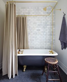 Budget Bathroom Reno    Photographer:     Michael Graydon Designer:     Mandy Milks, Stacey Smithers
