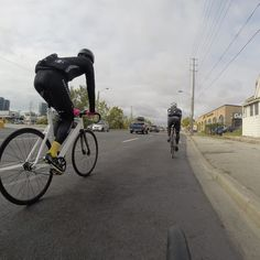 Carty @stevecarty and Nelson @thenelsongordon upfront. #allfixedgear's group rides start in 4 weeks. Get your #fixedgear bike and body ready. #trackbikes team @leaderbikeusa @bikesonwheels #735 #renovatio by allfixedgear
