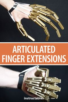3D print a fully functional set of articulated finger extensions. #Instructables #3Dprint #prop #cosplay