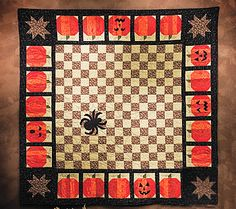 Halloween quilt tutorial - would love to find a crochet pattern for something like that quilt.