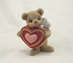 Ceramic Loving Valentine Bear with Candy by GrapeVineCeramicsGft, $10.00