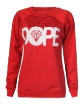 Forever Womens Dope Geek Brookleyn Boy Cocaine Print Fleece Sweatshirt