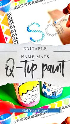 Name activities for kids name writing Preschool and kindergarten kids alike will love these Name Tracing Activities and Fine Motor Mats to learn all about letter formation, their name and more! Name Writing Activities, Name Activities Preschool, Kindergarten Names, Special Education Activities, Preschool Centers, Alphabet Activities, Preschool Learning, Activities For Kids, Preschool Literacy