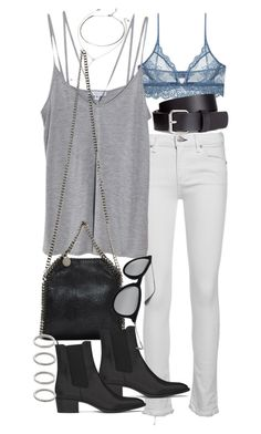 Untitled #18733 by florencia95 on Polyvore featuring polyvore, fashion, style, Cami NYC, rag & bone/JEAN, Only Hearts, Yves Saint Laurent, STELLA McCARTNEY, Forever 21, H&M and Ray-Ban
