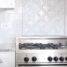 Kitchen backsplash tile - Marseille White Marble Wall and Floor Tile