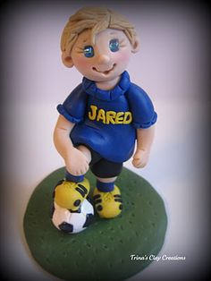 Soccer Player ~ Polymer Clay ~ Trina's Clay Creations