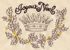 french vintage christmas crown #embroidery #pattern