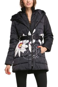 Desigual Pesos 47E2928 hooded coat parka