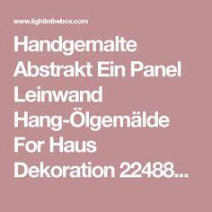 Handgemalte Abstrakt Ein Panel Leinwand Hang-Ölgemälde For Haus Dekoration 2248880 2016 – €61.73