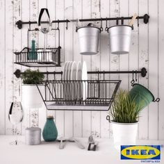 fintorp ikea - for salon. Ikea Kitchen Storage, Kitchen Ikea, Kitchen Sink Organization, Kitchen Decor, Kitchen Design, Diy Organization, Organizing, Best Kitchen Sinks, Cool Kitchens