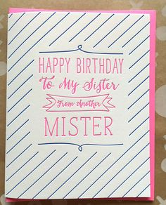 Best Friend Card. Birthday Card. Sister from Another by jdeluce