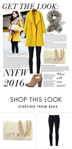 """NYFW 2016  - Contest outfit"" by javorkozima ❤ liked on Polyvore featuring Anja, Chanel, Frame Denim, Imposter and Tiffany & Co."