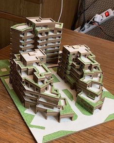 Nice maquette  #tag_your_friends • TAG YOUR ARCHITECTURE FRIENDS TO SEE THS  Follow @Sketch_architect for more sketch pic * Turn ON Post… Concept Architecture, Amazing Architecture, Maquette Architecture, Architecture Magazines, Architecture Portfolio, Architecture Student, Futuristic Architecture, Landscape Architecture, Residential Architecture