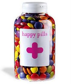 "A fantastic idea - candy store called ""Happy Pills"" . these would make ME happy :) Pharmacy Gifts, Happy Pills, Candy Store, Teacher Gifts, Bunt, Party Time, Birthday Gifts, Bff Birthday, Diy And Crafts"