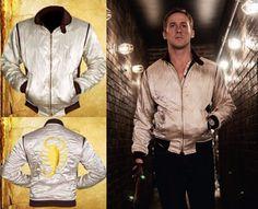Ryan Gosling Drive Scorpion Jacket Ryan Gosling Drive, Drive 2011, Golden Color, Scorpion, White Fabrics, Rib Knit, Celebs, Cosplay, Sleeves
