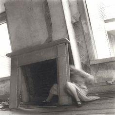 "Francesca Woodman, ""House #4, Providence, Rhode Island,"" 1975-76. Gelatin Silver Print."