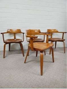 Vintage Mid Century Modern Walter GROPIUS W199 Lounge CHAIRS (4) Thonet in Antiques | eBay RARE! $3999.99