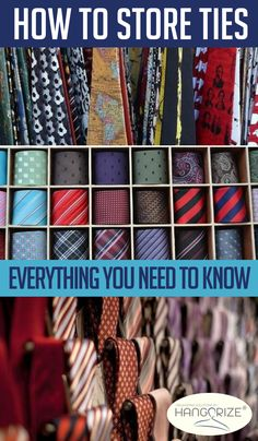 Ties are celebrated and making a comeback in a big way. But as your collection grows, you'll need an organized storage method.Here, you'll learn how to store ties neatly and tactfully, so they continue to add style to your wardrobe for years to come. Tie Organization, Small Space Organization, Bedroom Organization, Organizing Tips, Organising, Home Design, How To Store Ties, Tie Storage, Dry Erase Calendar