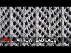 Arrowhead Lace Pattern for autumn/spring
