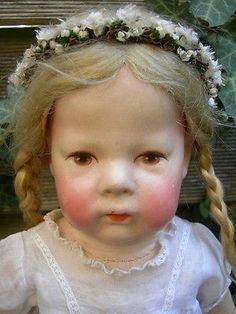 Antike Käthe Kathe Kruse Doll Puppe IH (1H), Mohairhaare! Breite Hüften, 43cm
