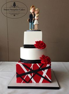 Van Halen inspired wedding cake