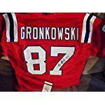 Rob Gronkowski Autographed Signed New England Patriots Logo Football COA & Hologram