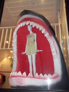 Shark Attack Store Window Display