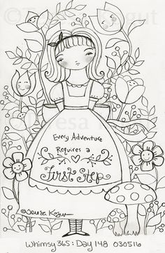 whimsy 365 day 148 030516 Embroidery Motifs, Cross Stitch Embroidery, Embroidery Designs, Colouring Pages, Adult Coloring Pages, Coloring Books, Colonial Art, Punch Needle Patterns, Sketch Inspiration