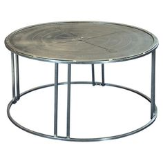 "18"" H x 35"" Diameter Compass Coffee Table"