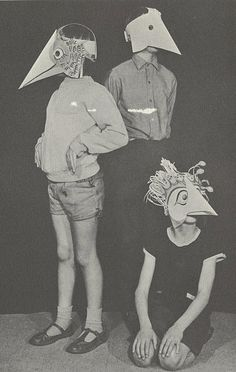 In 1910, all children were ordered to make cheesy, birdlike, paper masks and wear them from March until Labor day- it was the law...